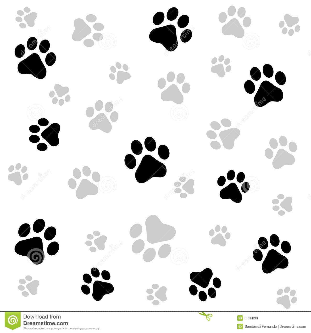 Paw Prints Background Stock Photos - Image: 6936093