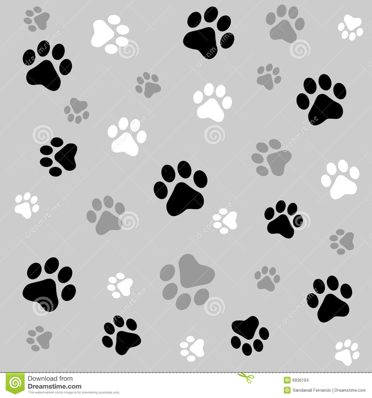 Paw Prints Background Stock Images - Image: 6936104