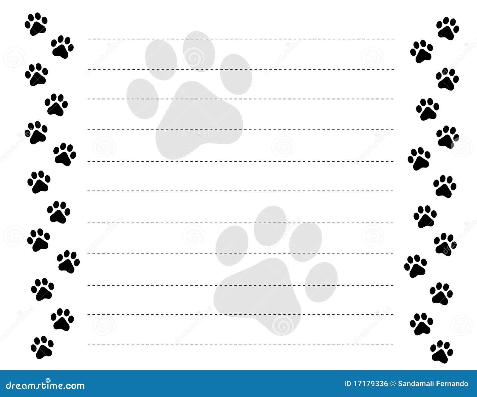 paw prints border royalty free stock image  image 17179336