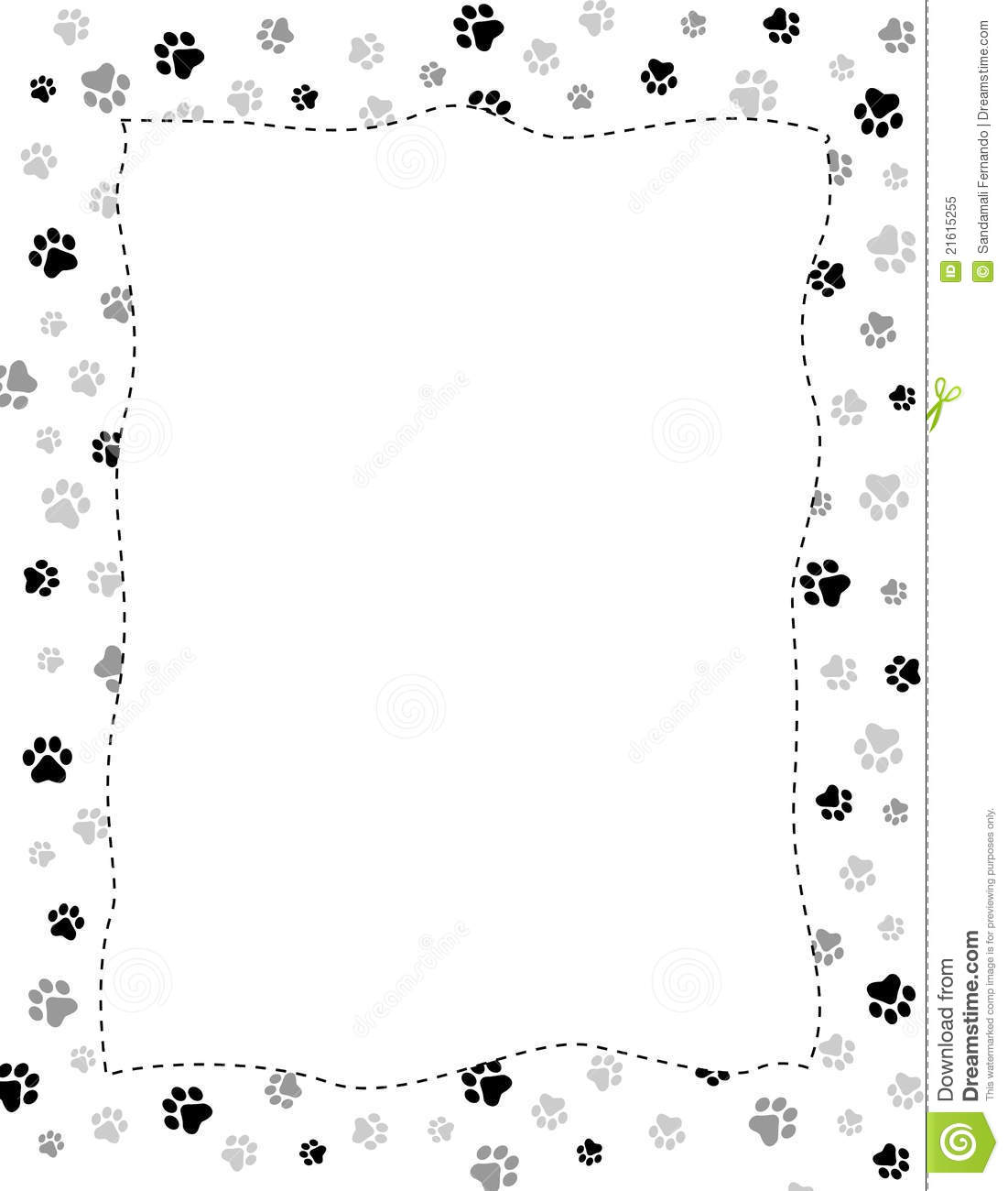 Paw Prints Border Stock Vector Illustration Of Animals 21615255