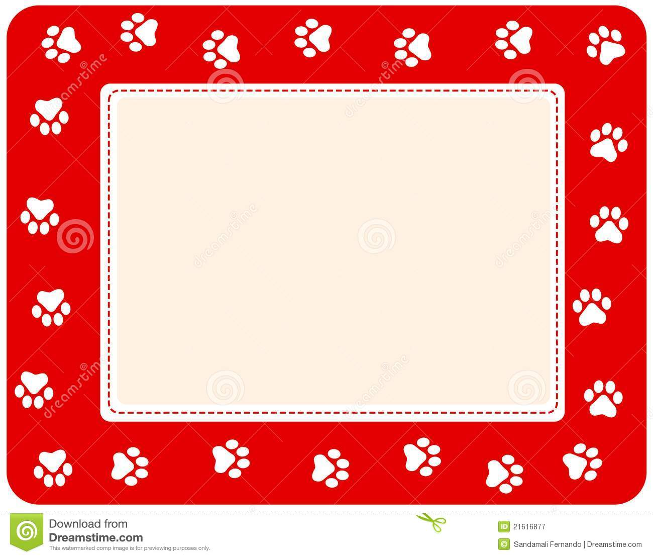 Paw Prints Border Stock Vector Illustration Of Header 21616877