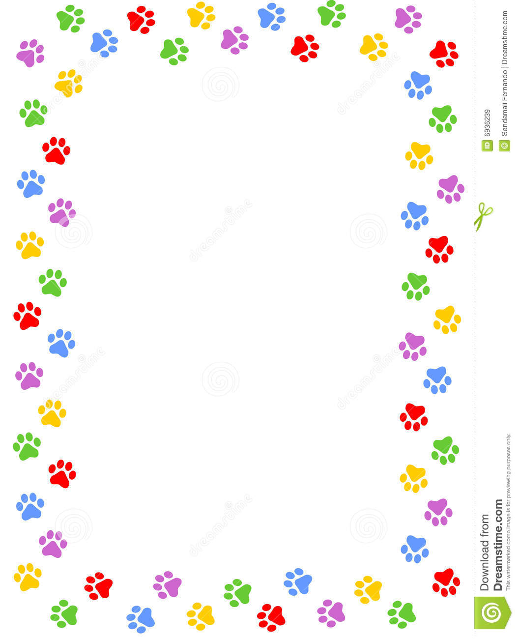 Paw Prints Border Royalty Free Stock Images - Image: 6936239