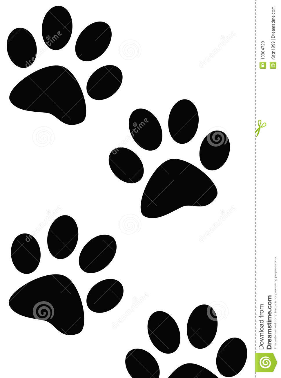 Paw Prints Of Dog Or Cat Royalty Free Stock Images - Image: 13004729