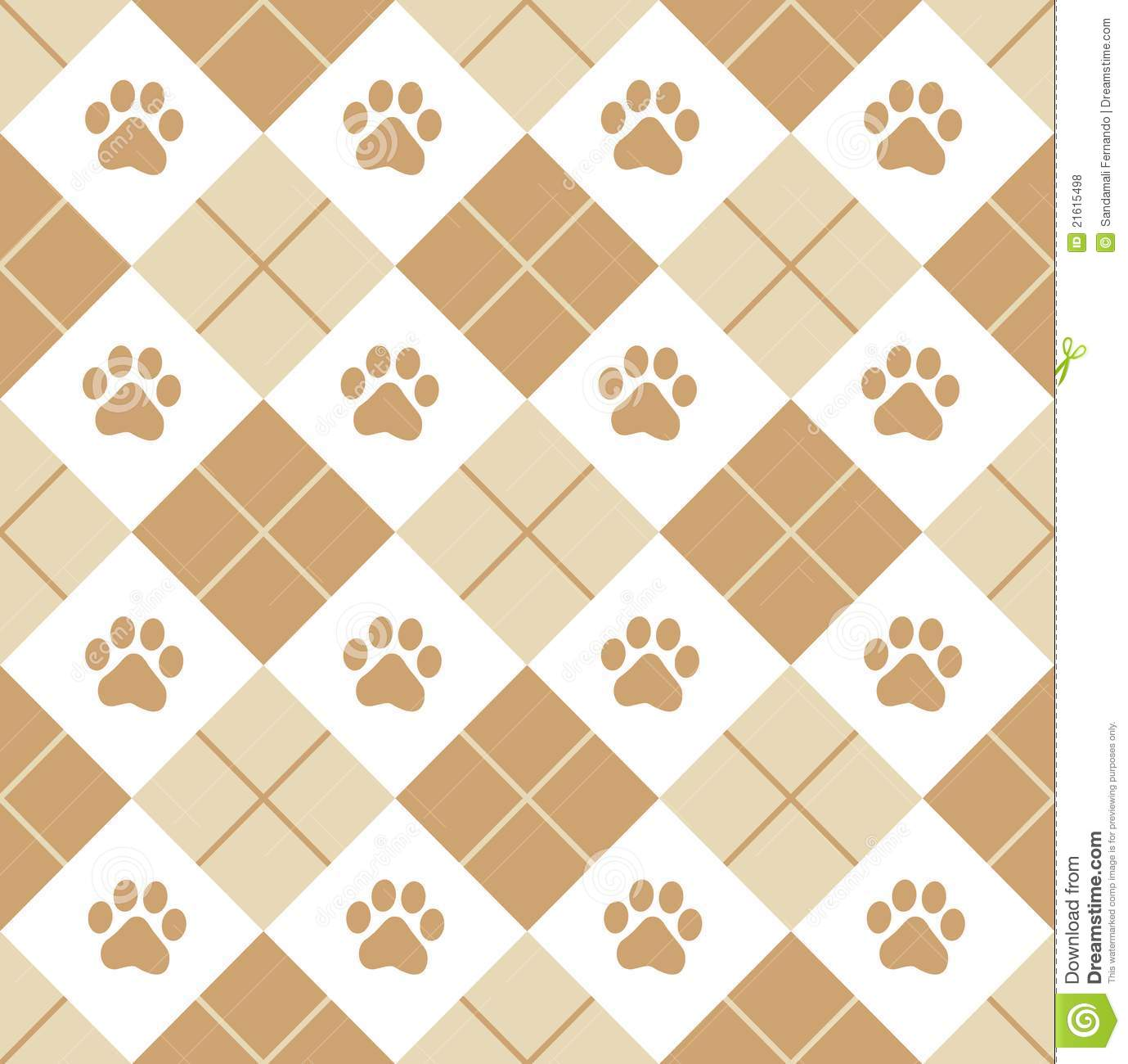Paw Prints Seamless Stock Vector Illustration Of Fabric