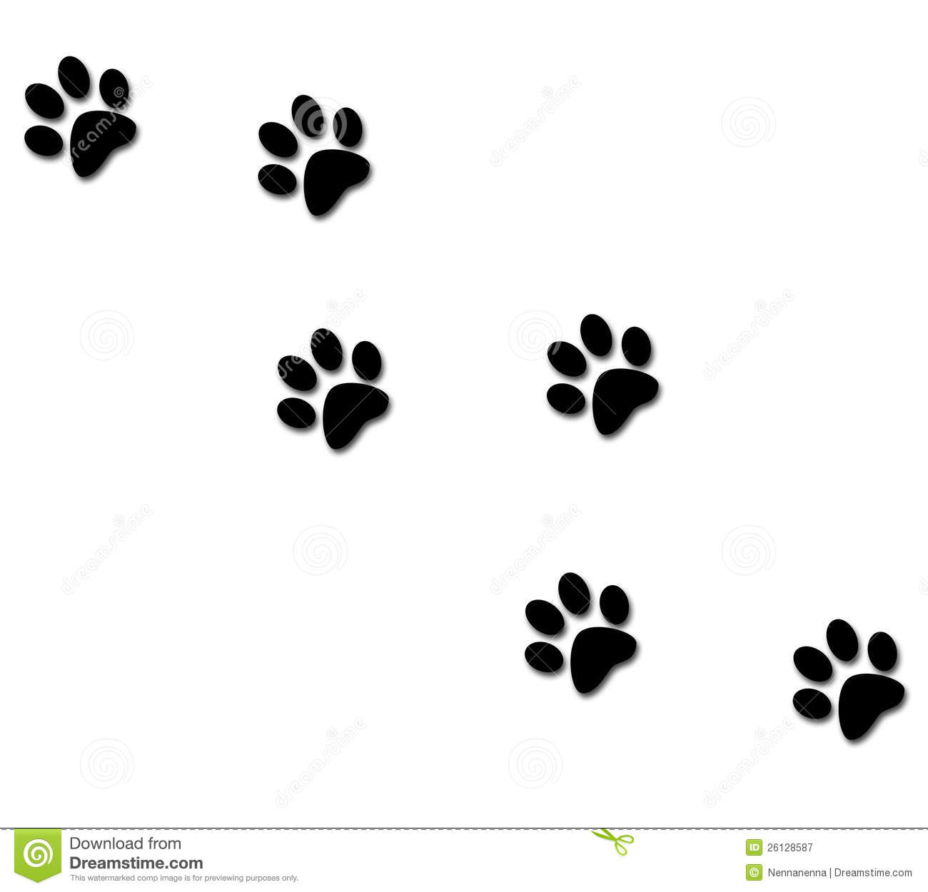 Paw Tracks Royalty Free Stock Photography - Image: 26128587