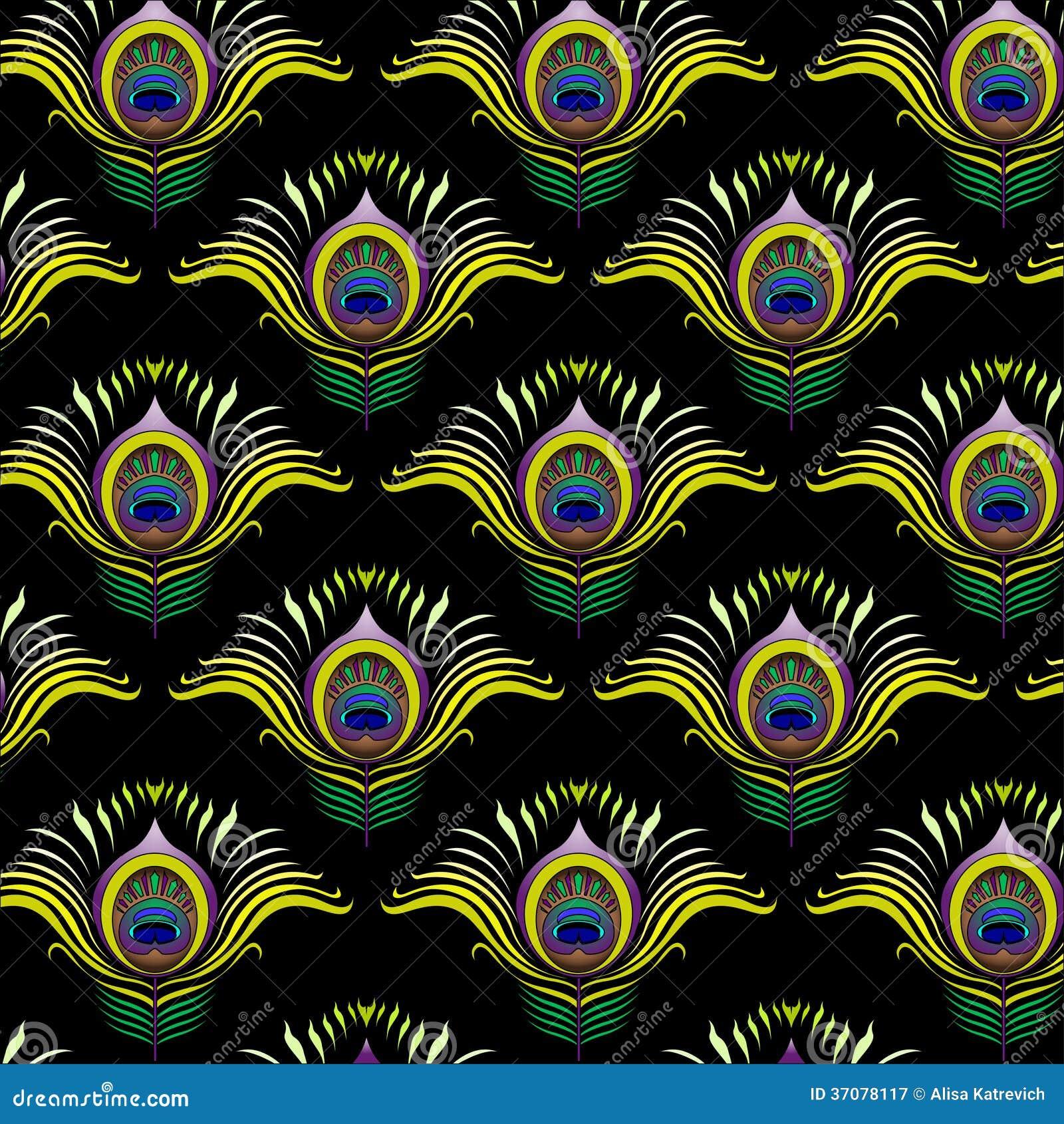 Download Paw Upierza Wektorowego Bezszwowego Wzór Ilustracja Wektor - Ilustracja złożonej z światło, piękny: 37078117