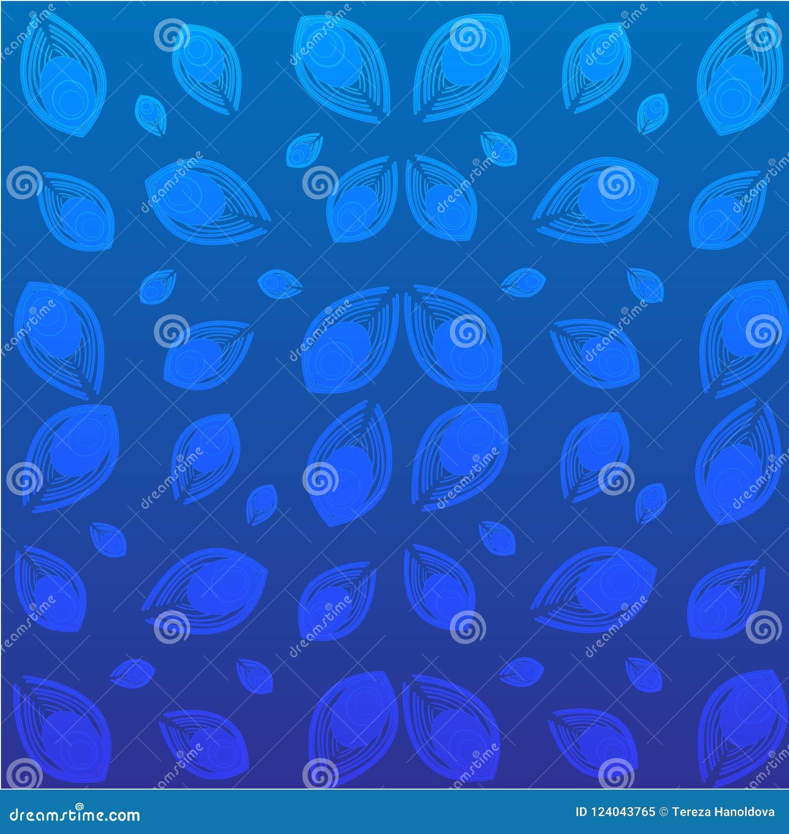 Pawi piórka na błękitnym tle również zwrócić corel ilustracji wektora