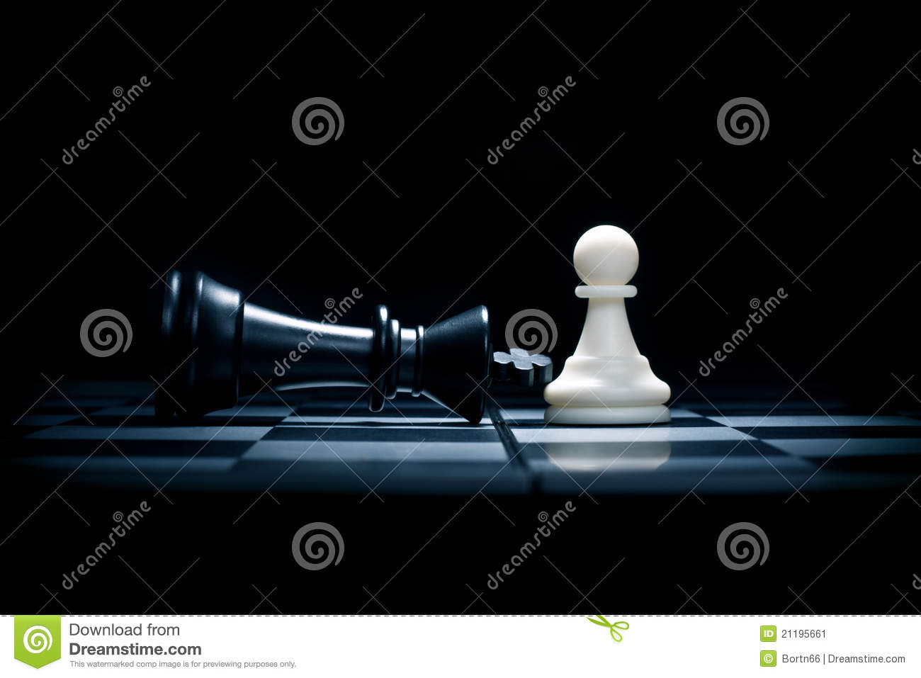 A pawn and the won king