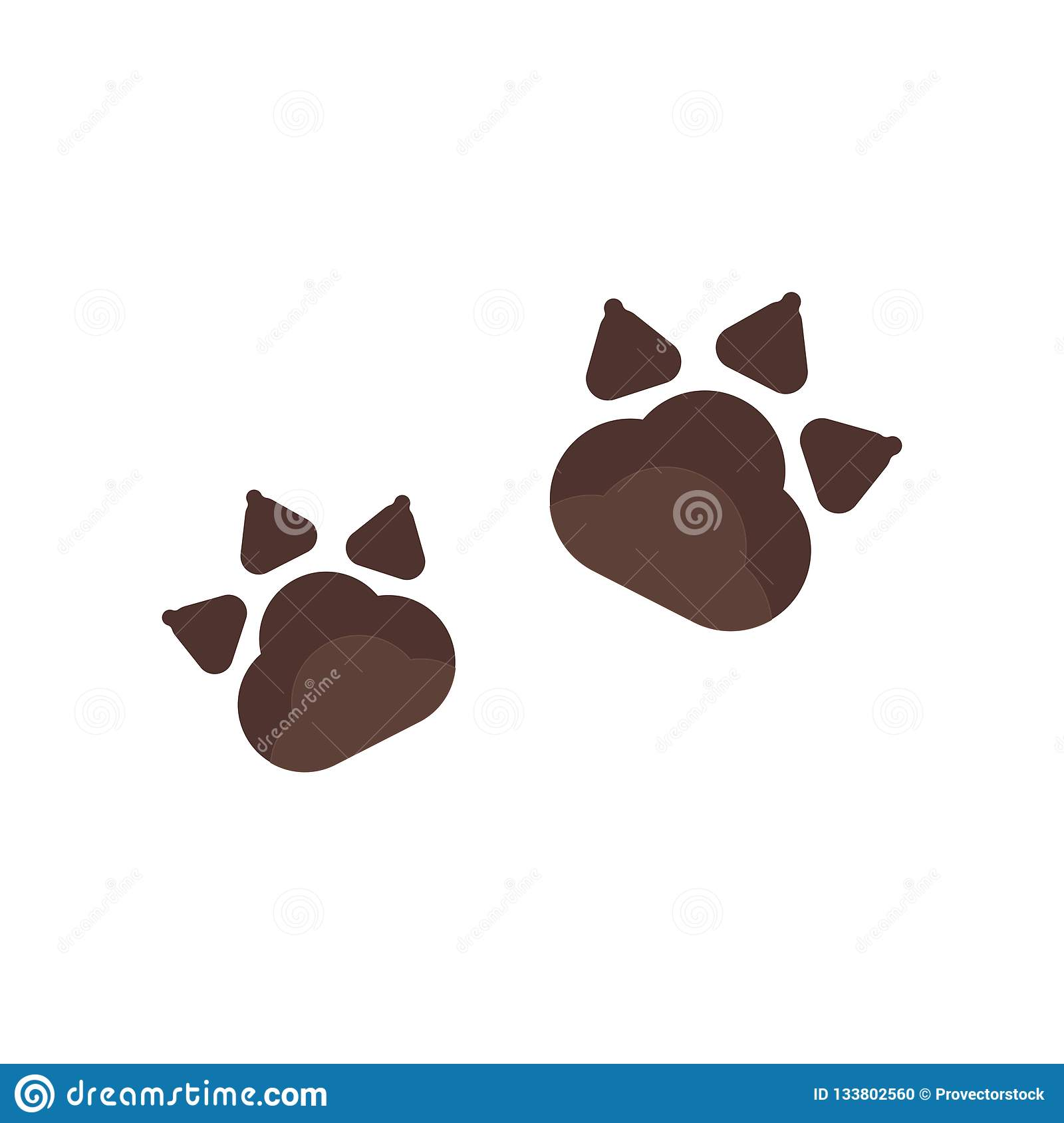 Pawprints icon vector sign and symbol isolated on white background