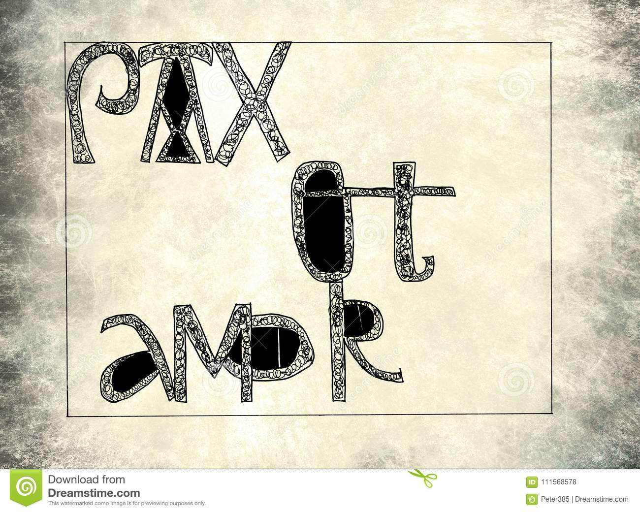 Download Pax et amor stock illustration. Illustration of striped - 111568578