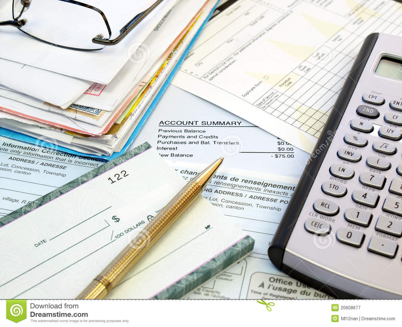 Pay Bills Royalty Free Stock Photography - Image: 20608677