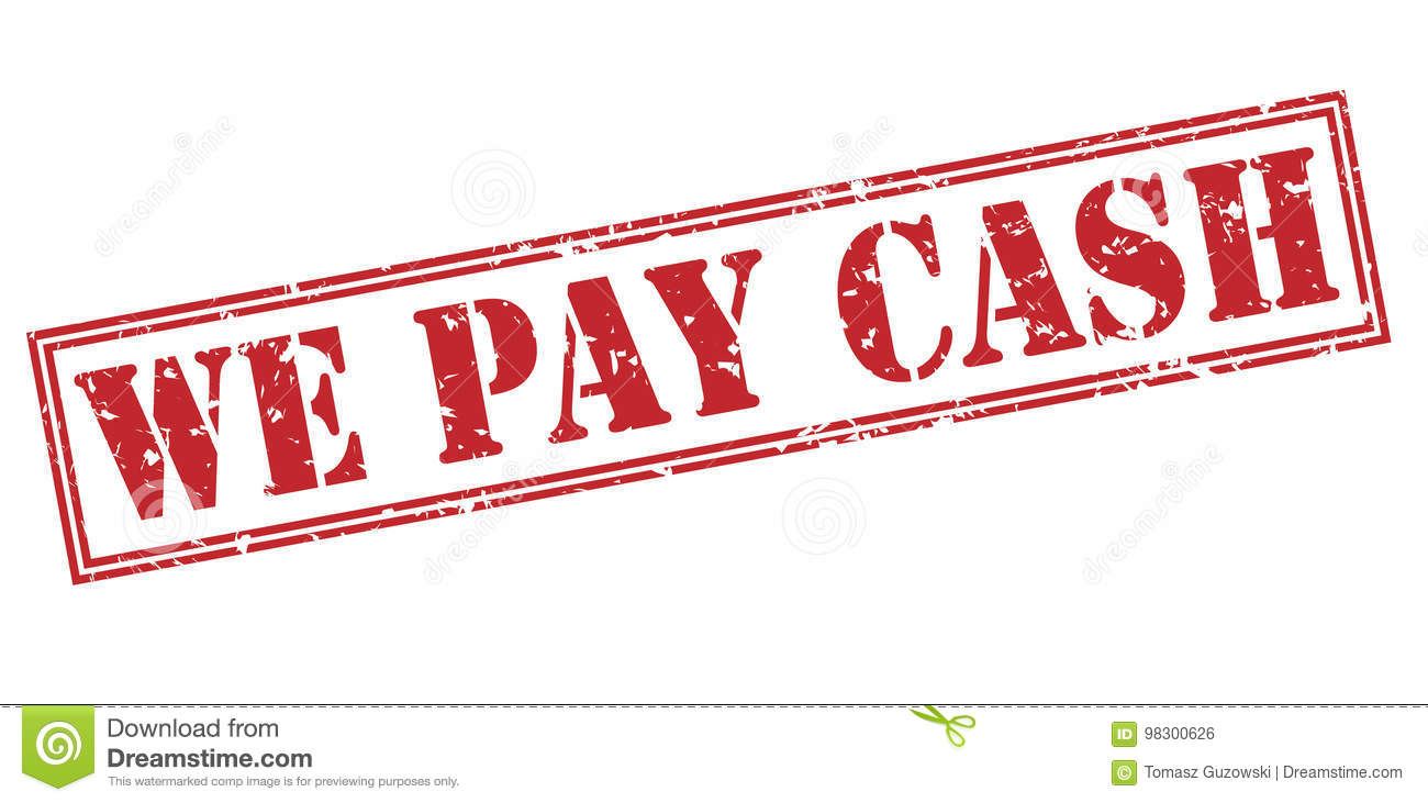 We pay cash red stamp stock illustration. Illustration of icon ...