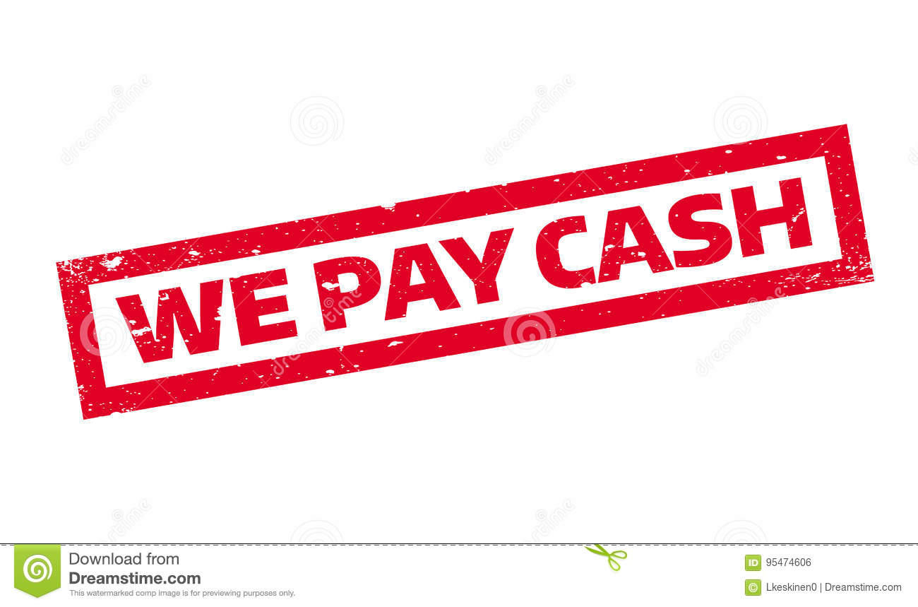 We Pay Cash rubber stamp stock vector. Illustration of grungy - 95474606
