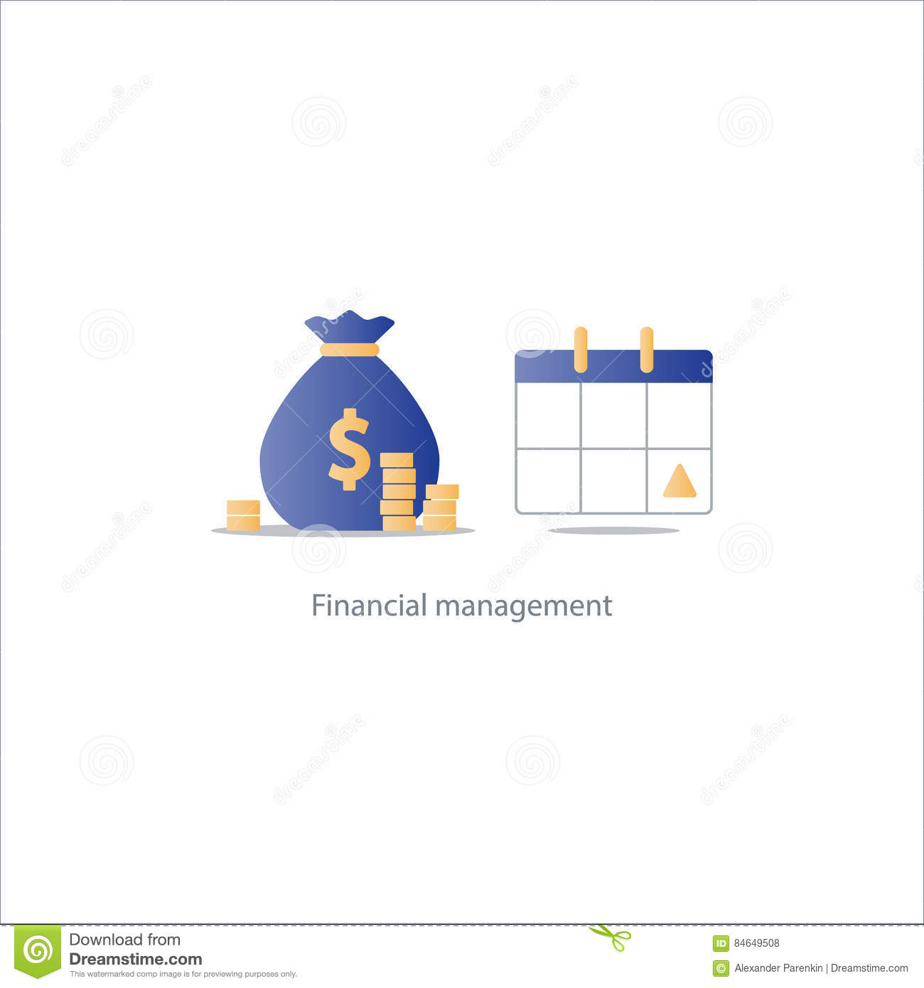 Financial: Pay Day, Monthly Payment, Calendar Time Period Icon