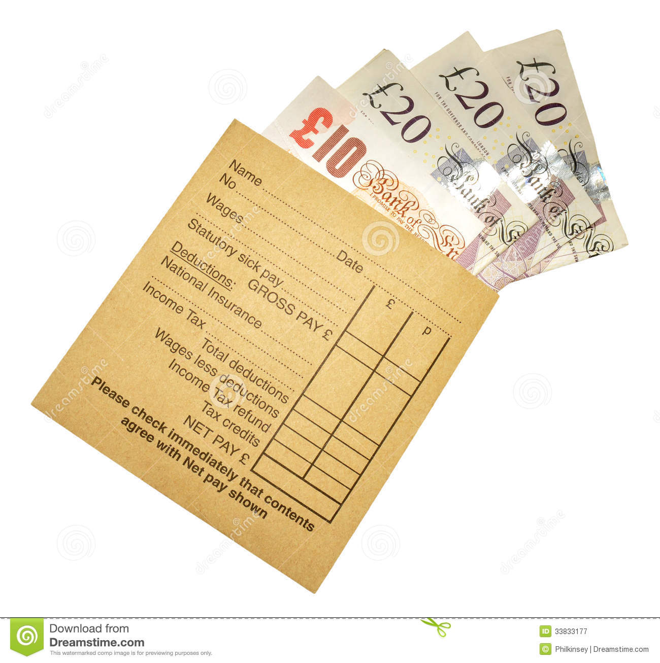 Pay for paper envelope