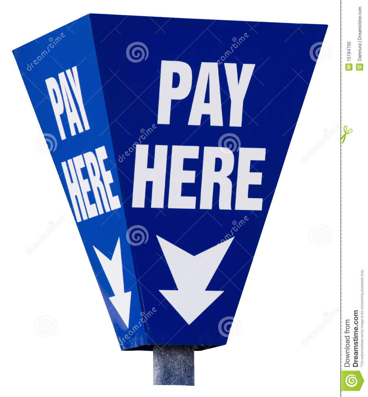Pay Here Sign Isolated On White Stock Photo - Image: 15184700