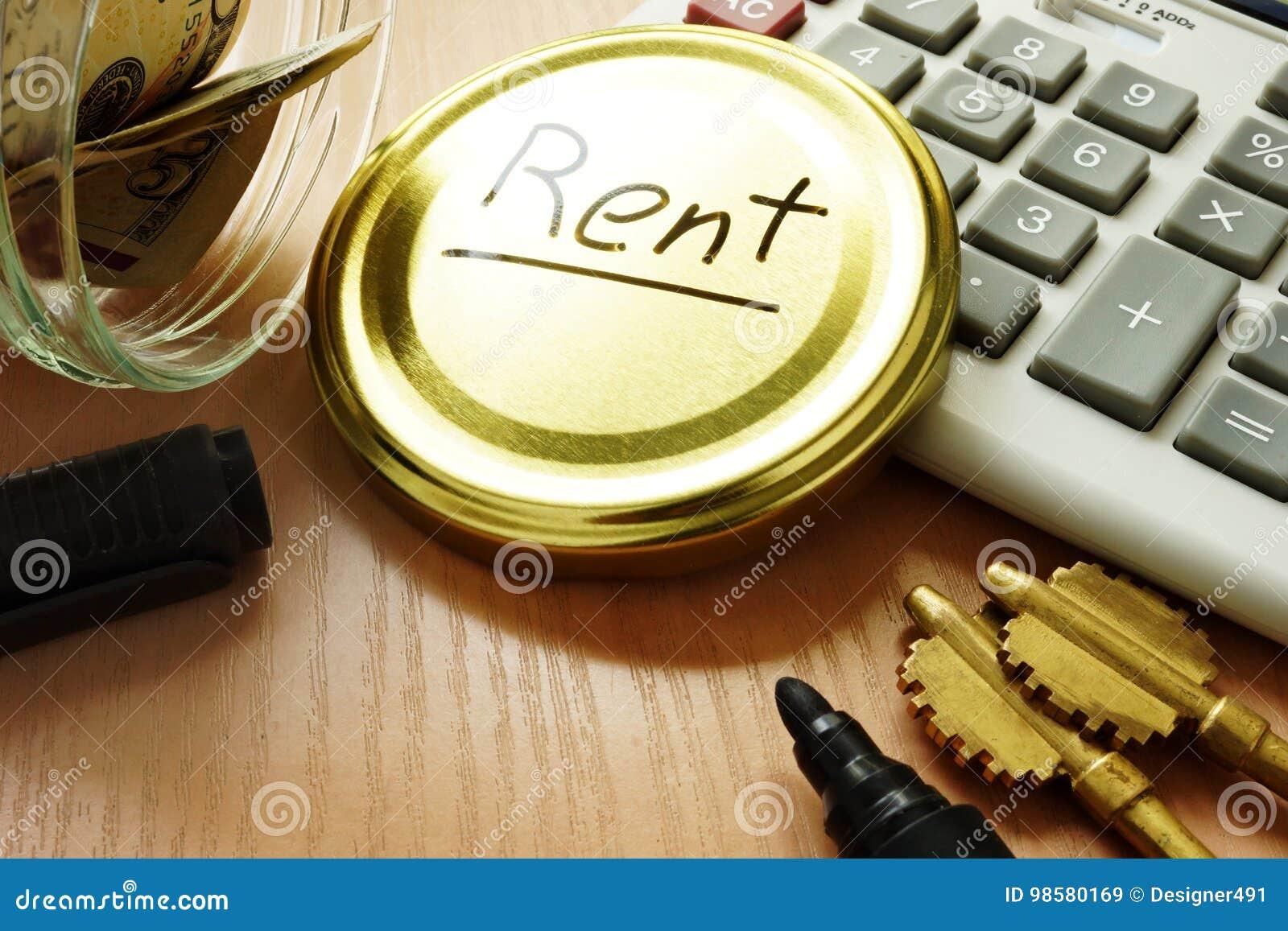 Pay rent concept.