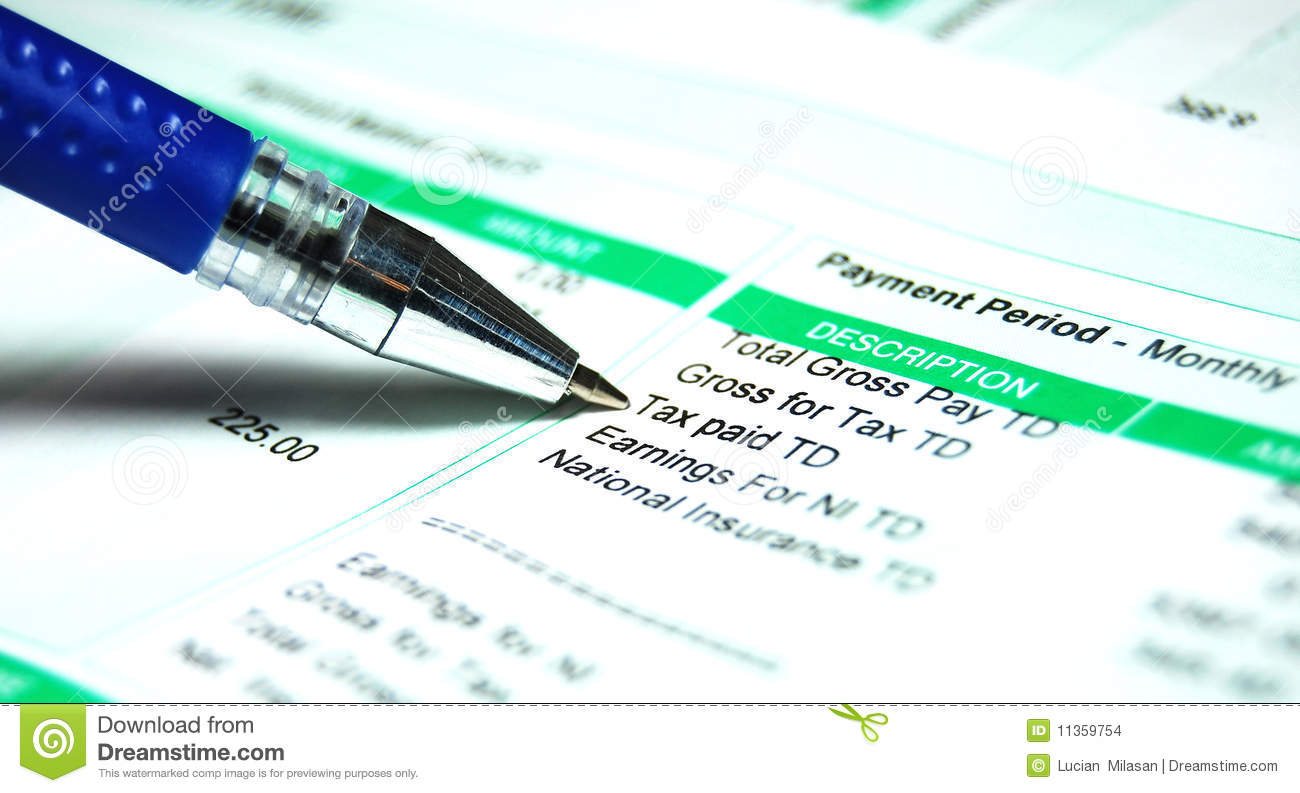Pay Slip Tax Images Image 11359754 – Monthly Pay Slip