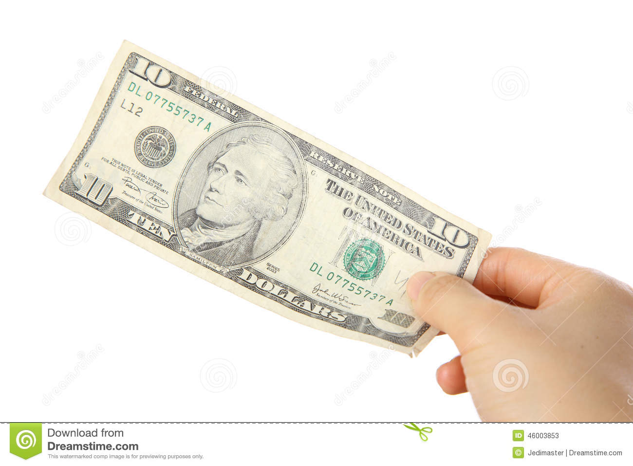 pay a u s 10 doller bill stock image image of doller 46003853