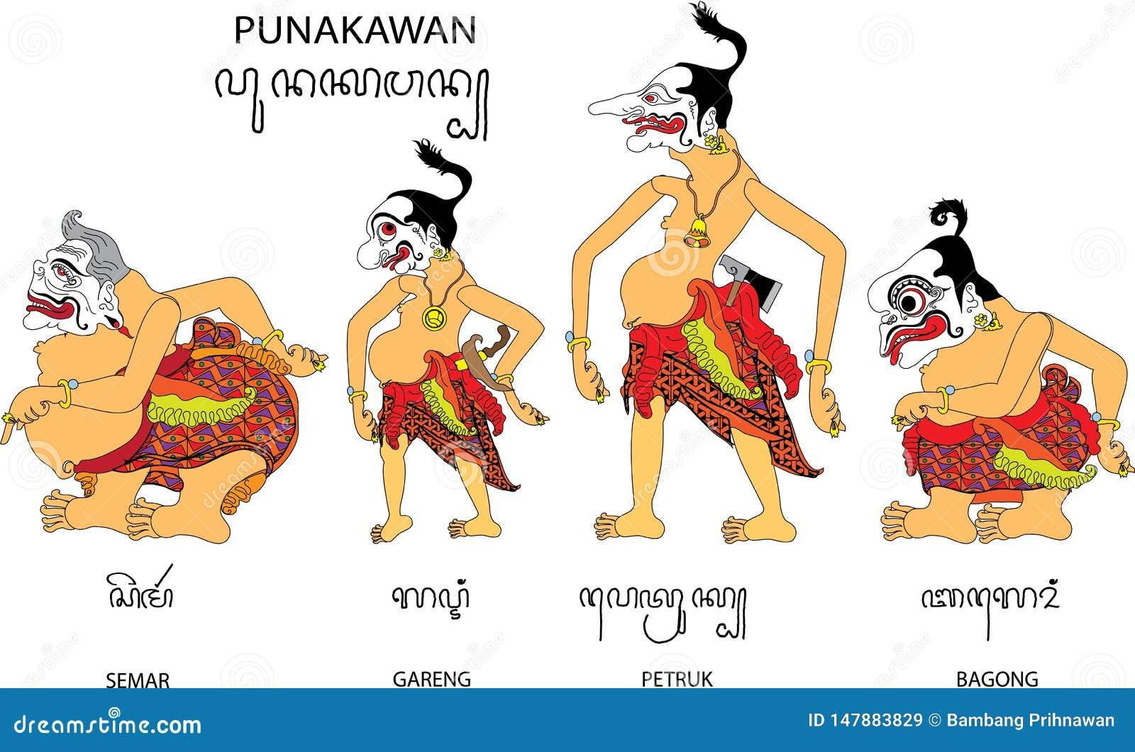 Punakawan Ilustraciones Stock Vectores Y Clipart – 3
