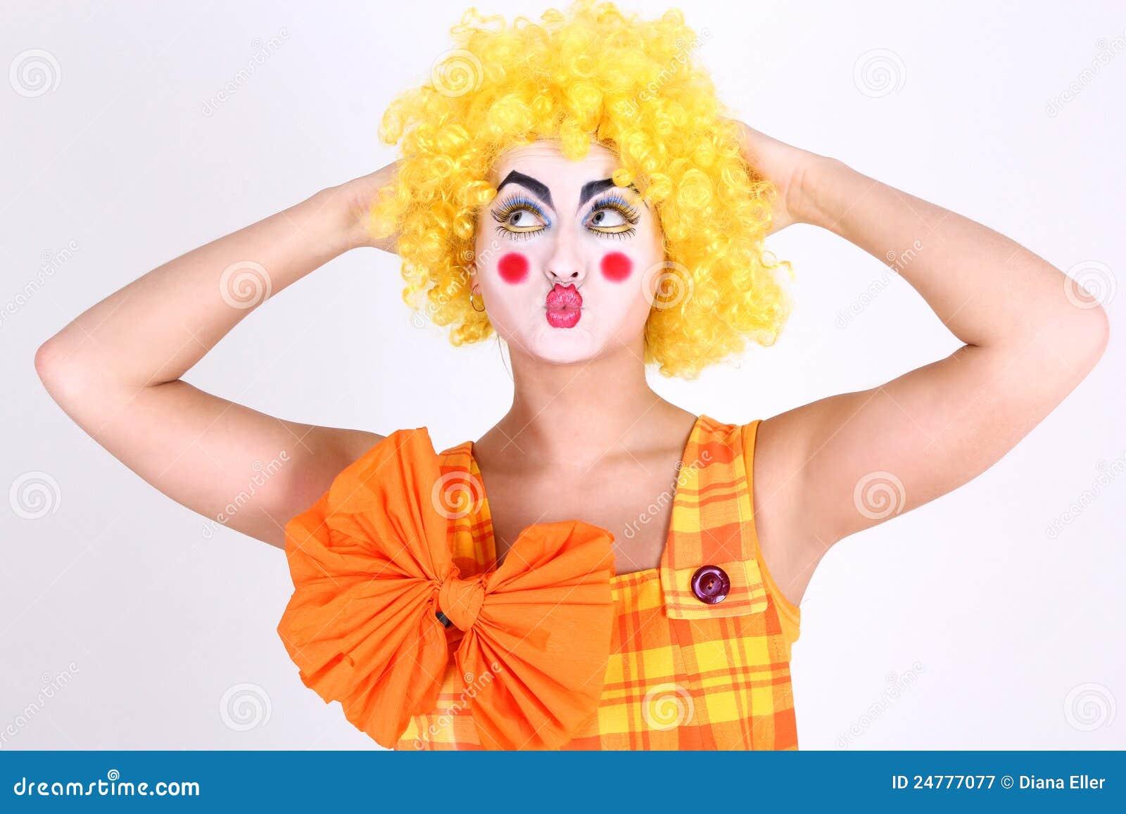 maquillaje payaso divertido