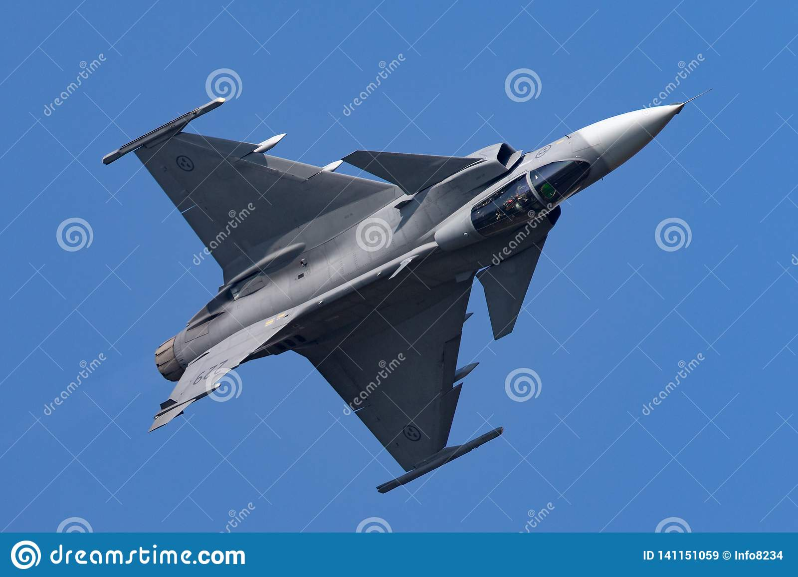 Swedish Air Force Saab JAS-39C Gripen Multirole Fighter Aircraft