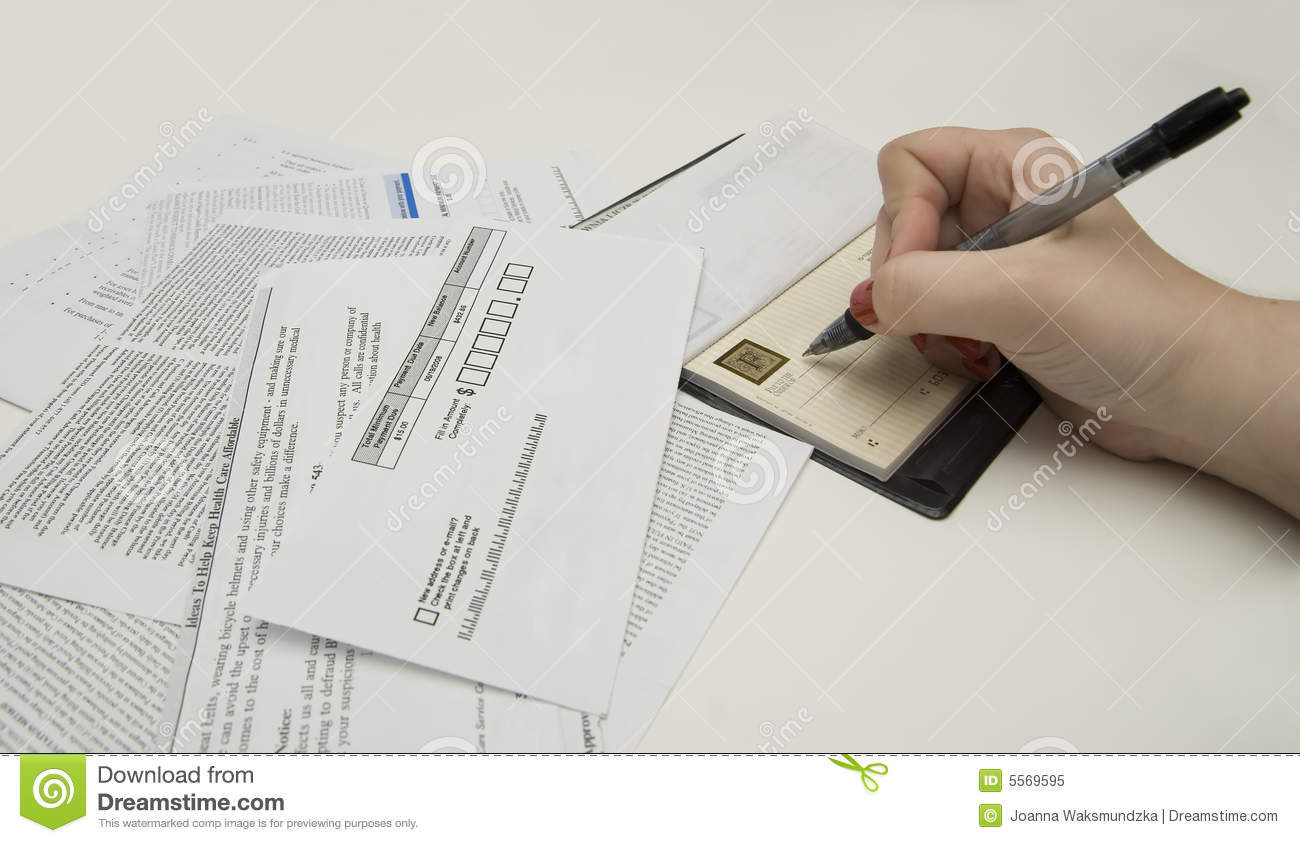 Paying Bills Royalty Free Stock Photo - Image: 5569595