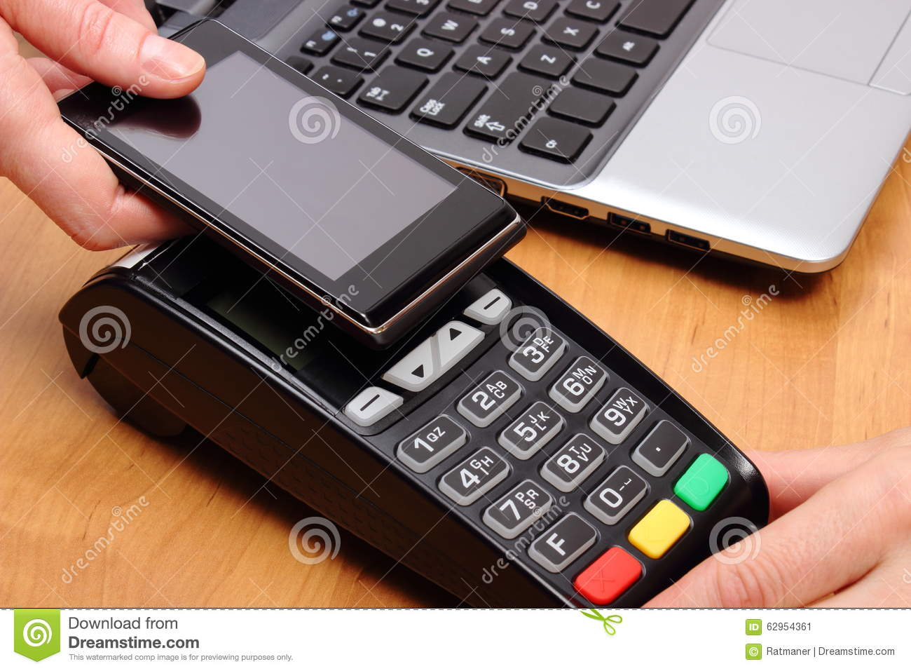 Paying With Mobile Phone With NFC Technology, Finance Concept Stock Image - Image of equipment