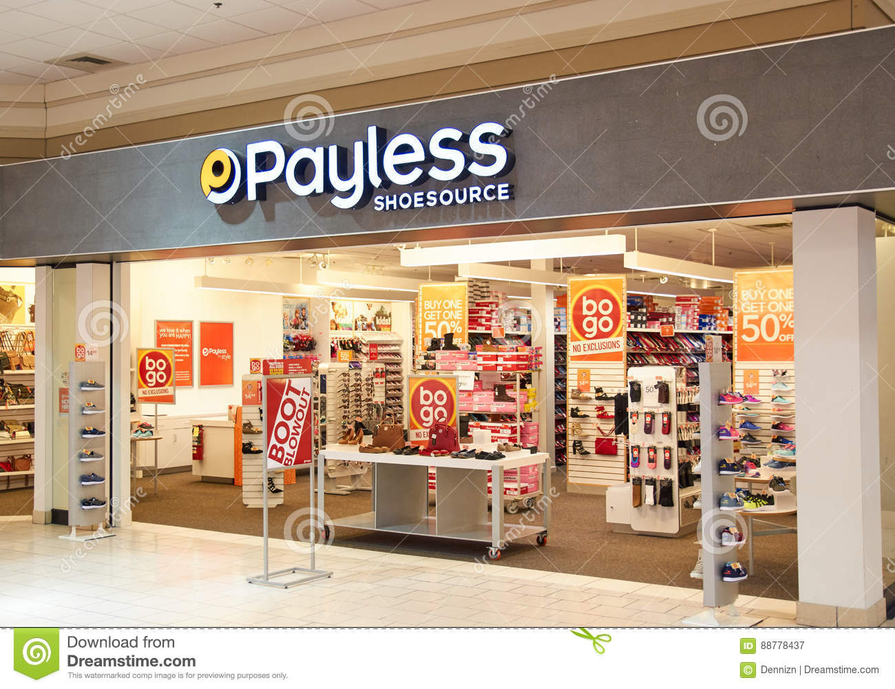 Payless ShoeSource bootique.