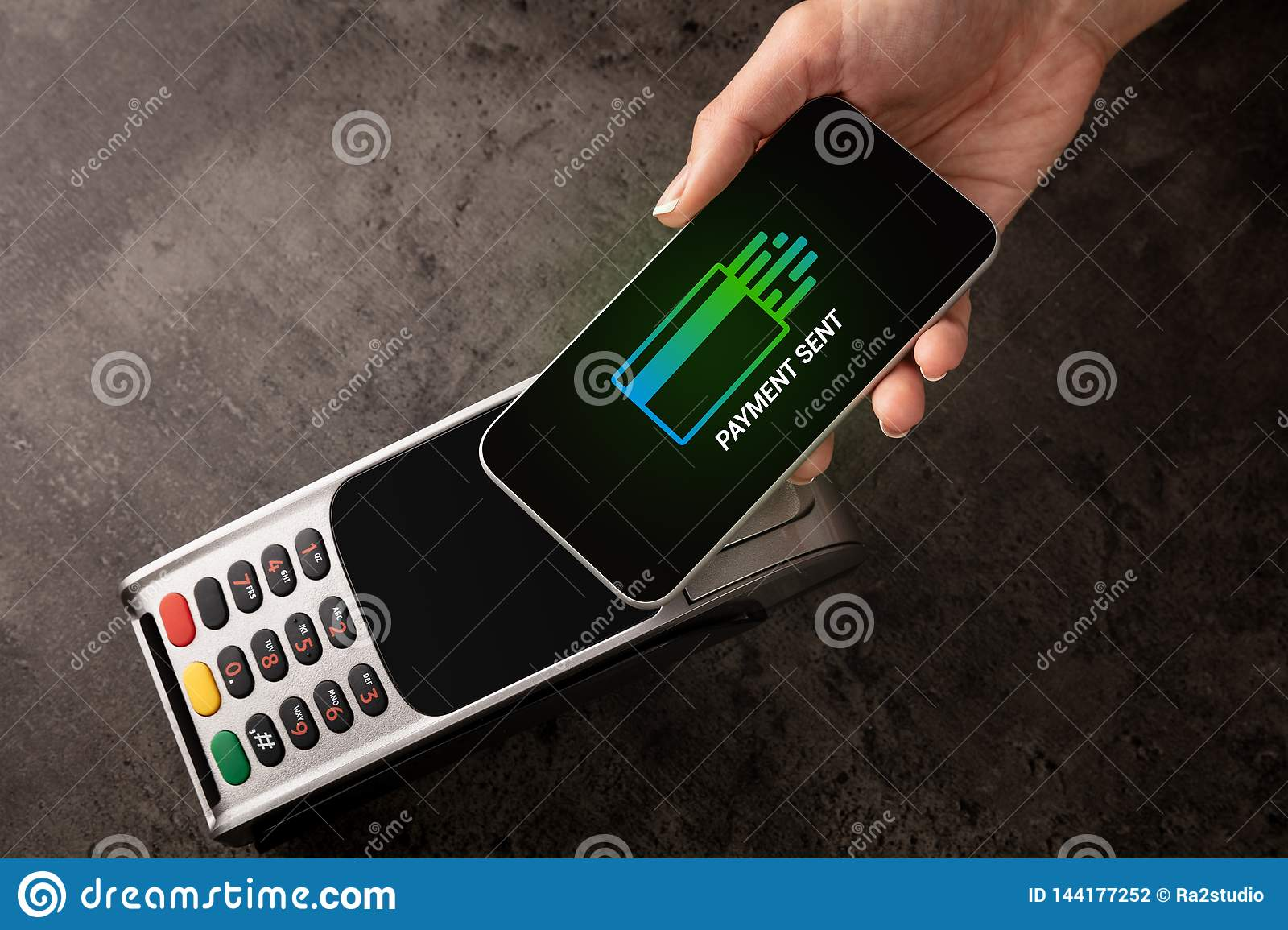 Payment accepted with mobile phone