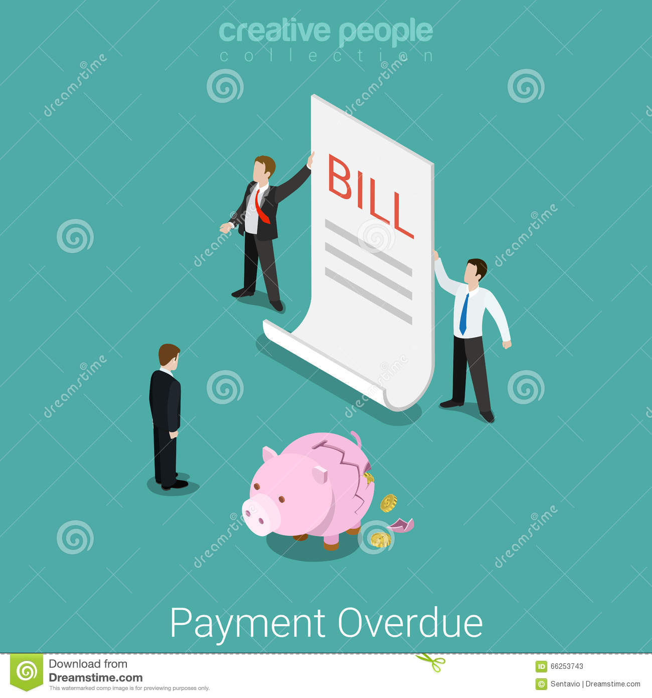 Bill Payment Or A Tax Invoice. Open Envelope With A Check ...