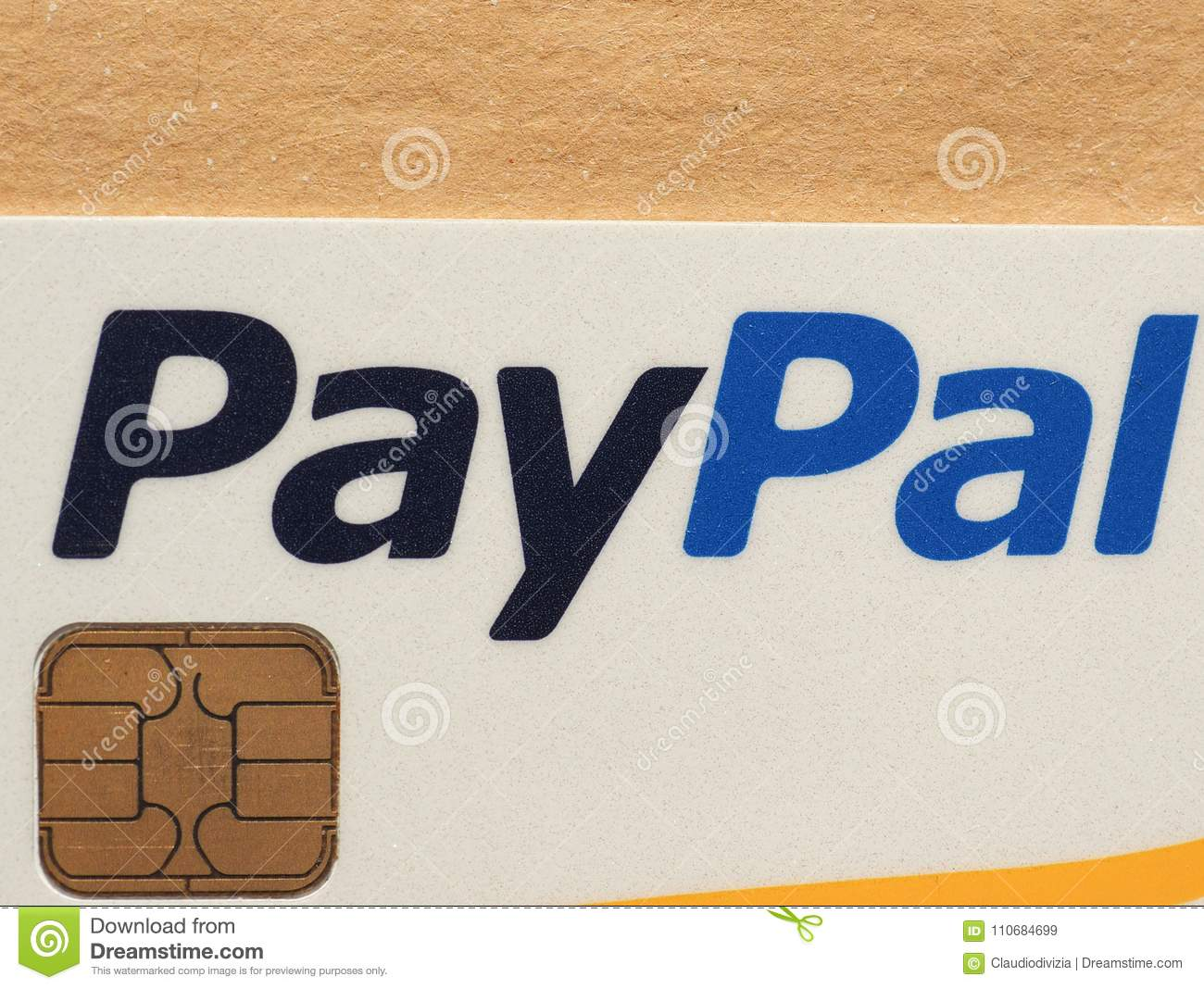 Paypal credit card editorial stock image image of wealth 110684699 milan italy circa february 2018 paypal logo on a credit card biocorpaavc Choice Image