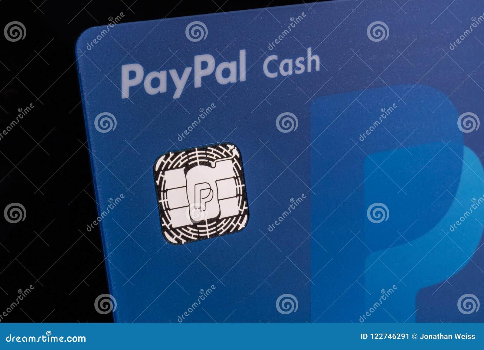Indianapolis - Circa July 2018: PayPal Debit Cash Card  PayPal