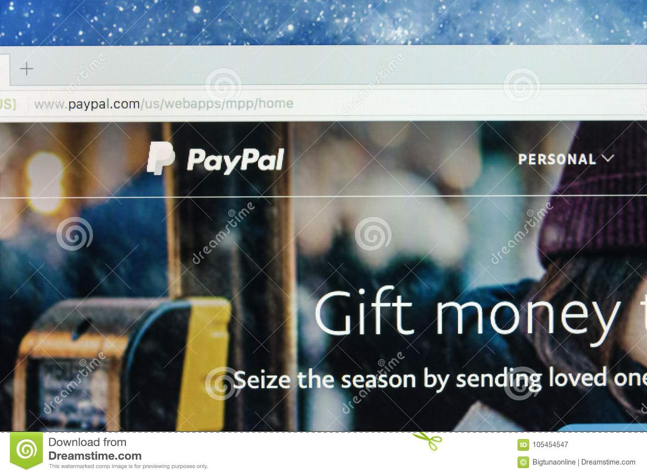 Paypal Website Homepage On A Apple IMac Monitor Screen