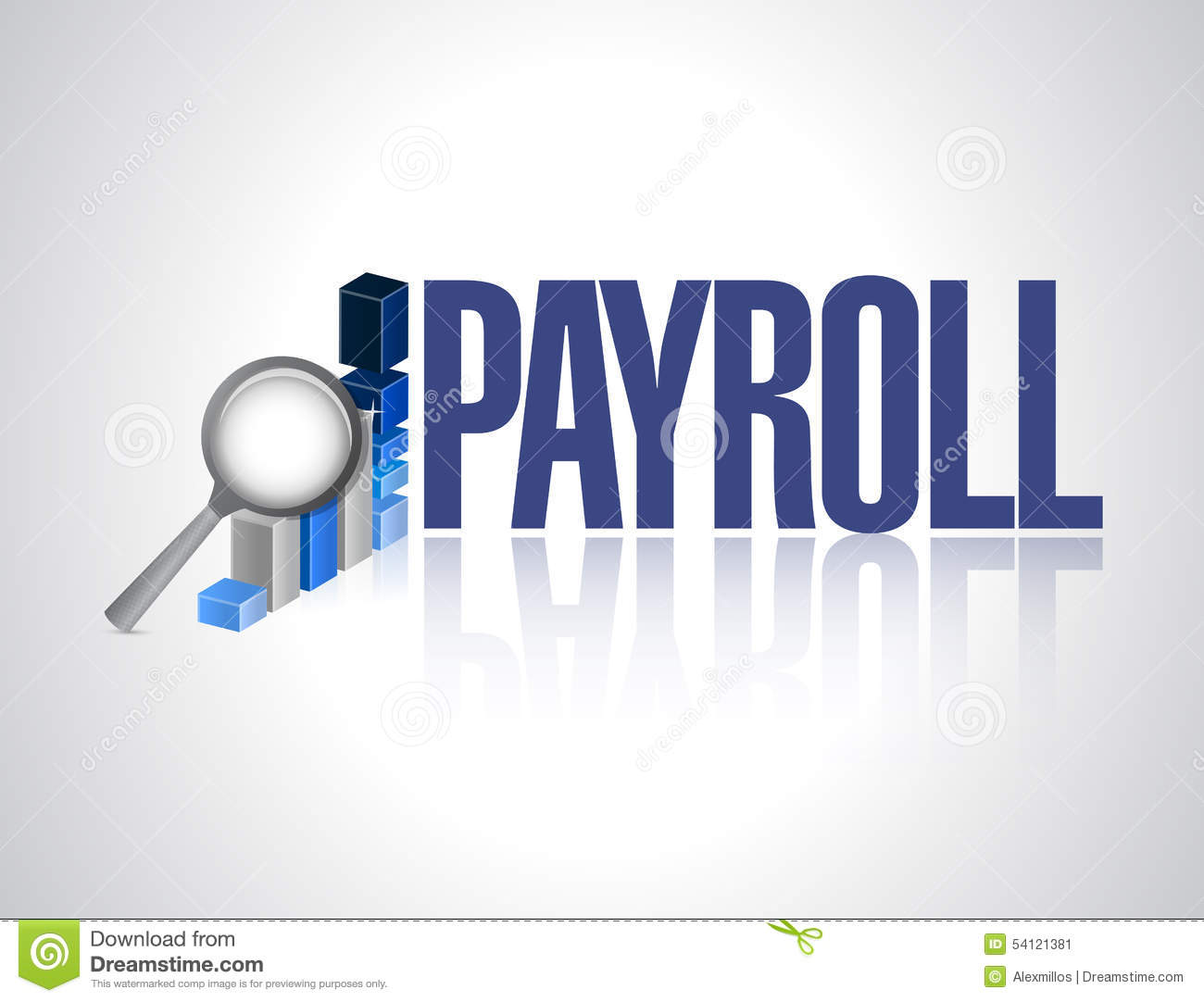 Payroll business graph sign concept stock illustration image 54121381 - Custom signs for home decor concept ...