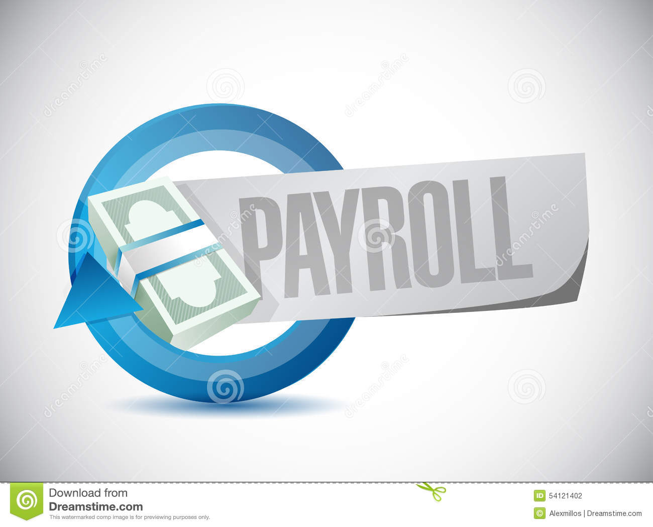 payroll cycle sign concept illustration stock illustration