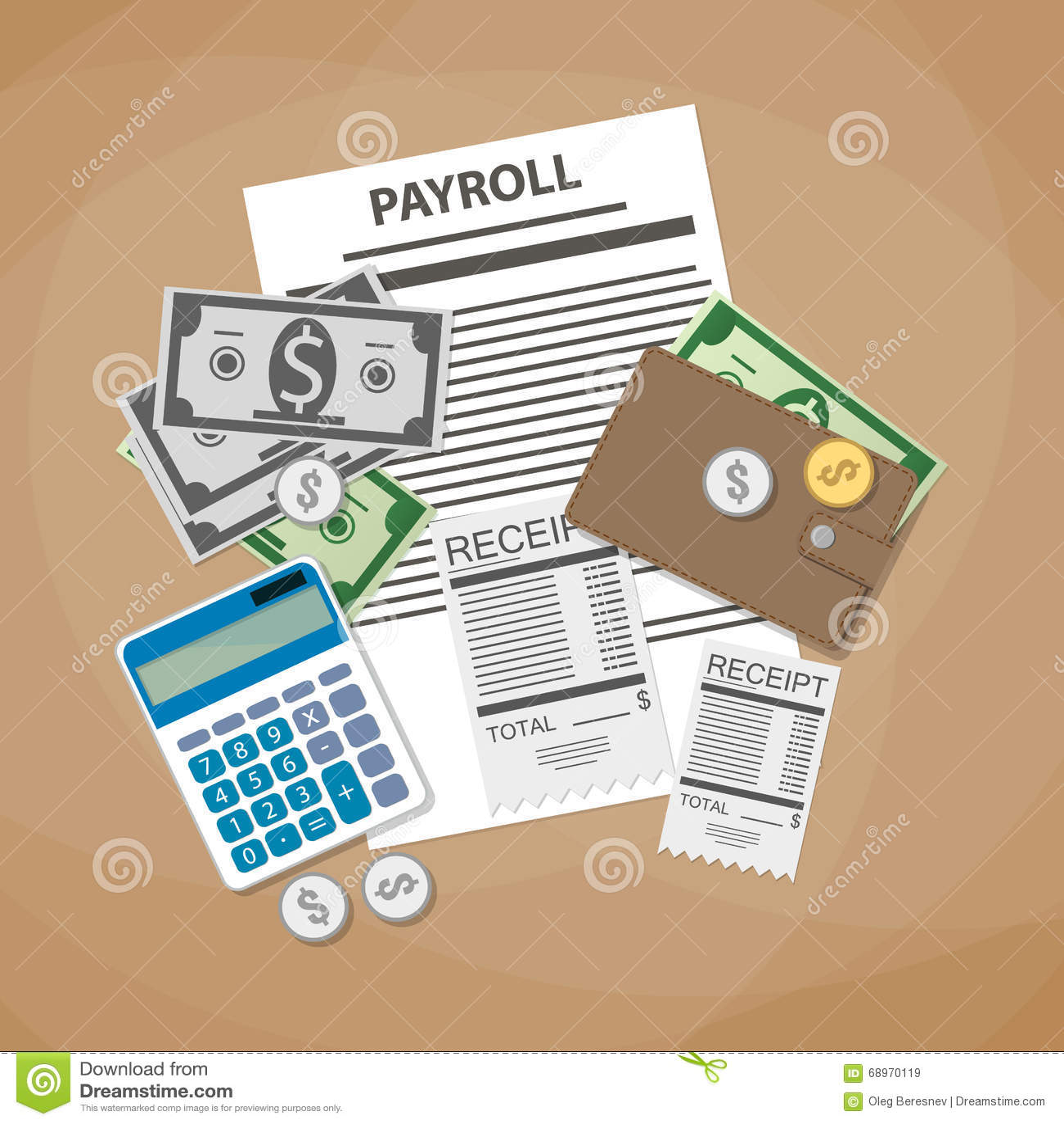 Payroll Invoice Sheet Vector Image 69570262 – Payroll Invoice