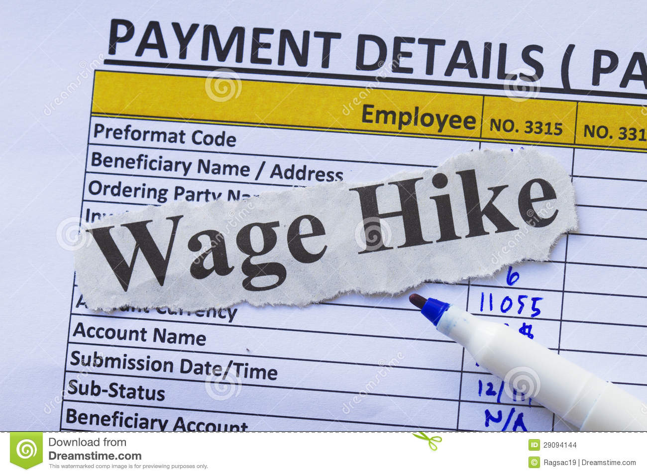 payroll ledger stock photo image of business hike payroll 29094144