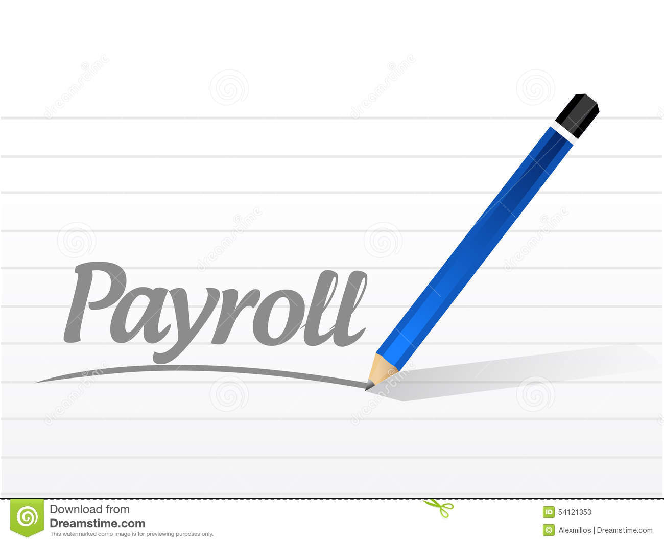 payroll message sign concept illustration stock