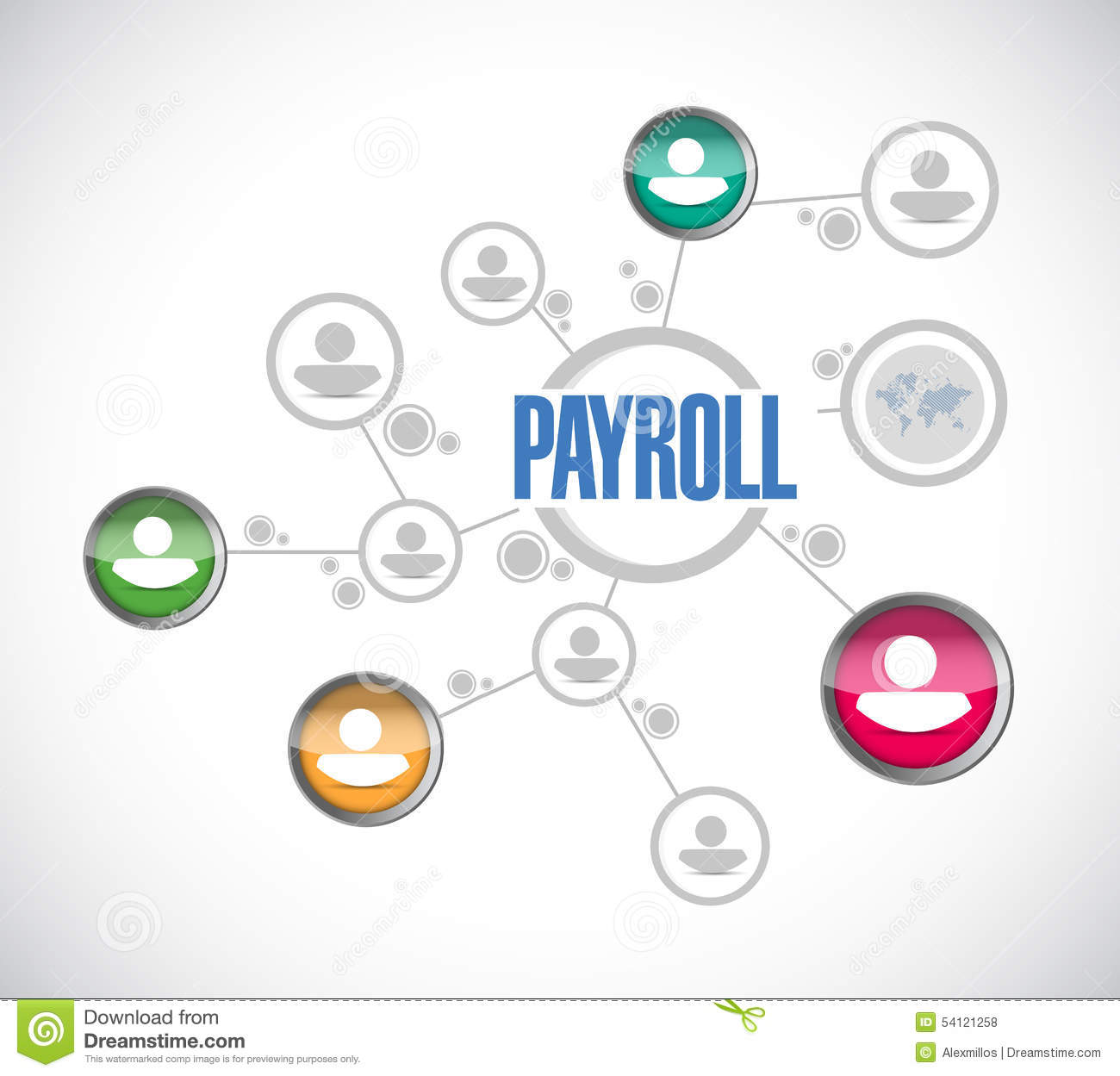Payroll Network Sign Concept Illustration Stock Illustration - Image ...