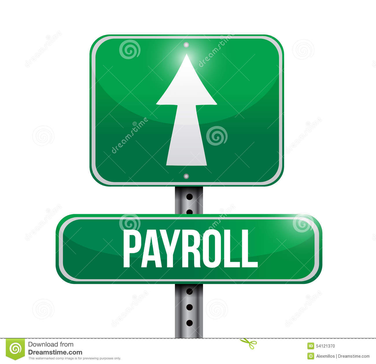 payroll road sign concept illustration stock illustration