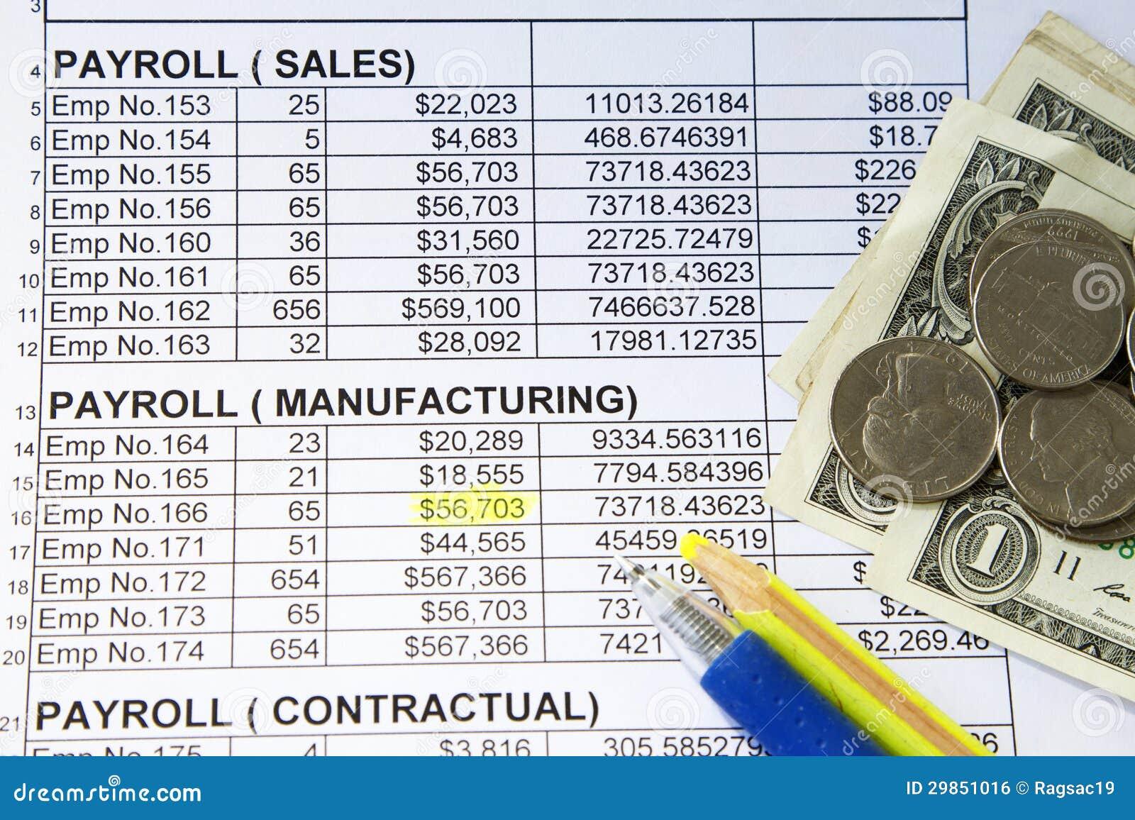payroll spreadsheet stock photo image of timekeeping 29851016