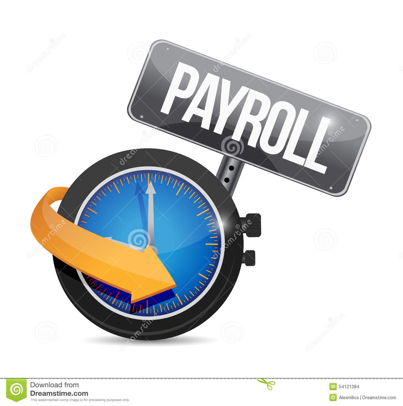 payroll time sign concept illustration design stock