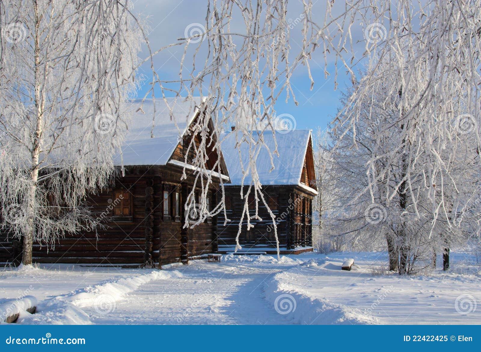 Pays de Russe de l hiver