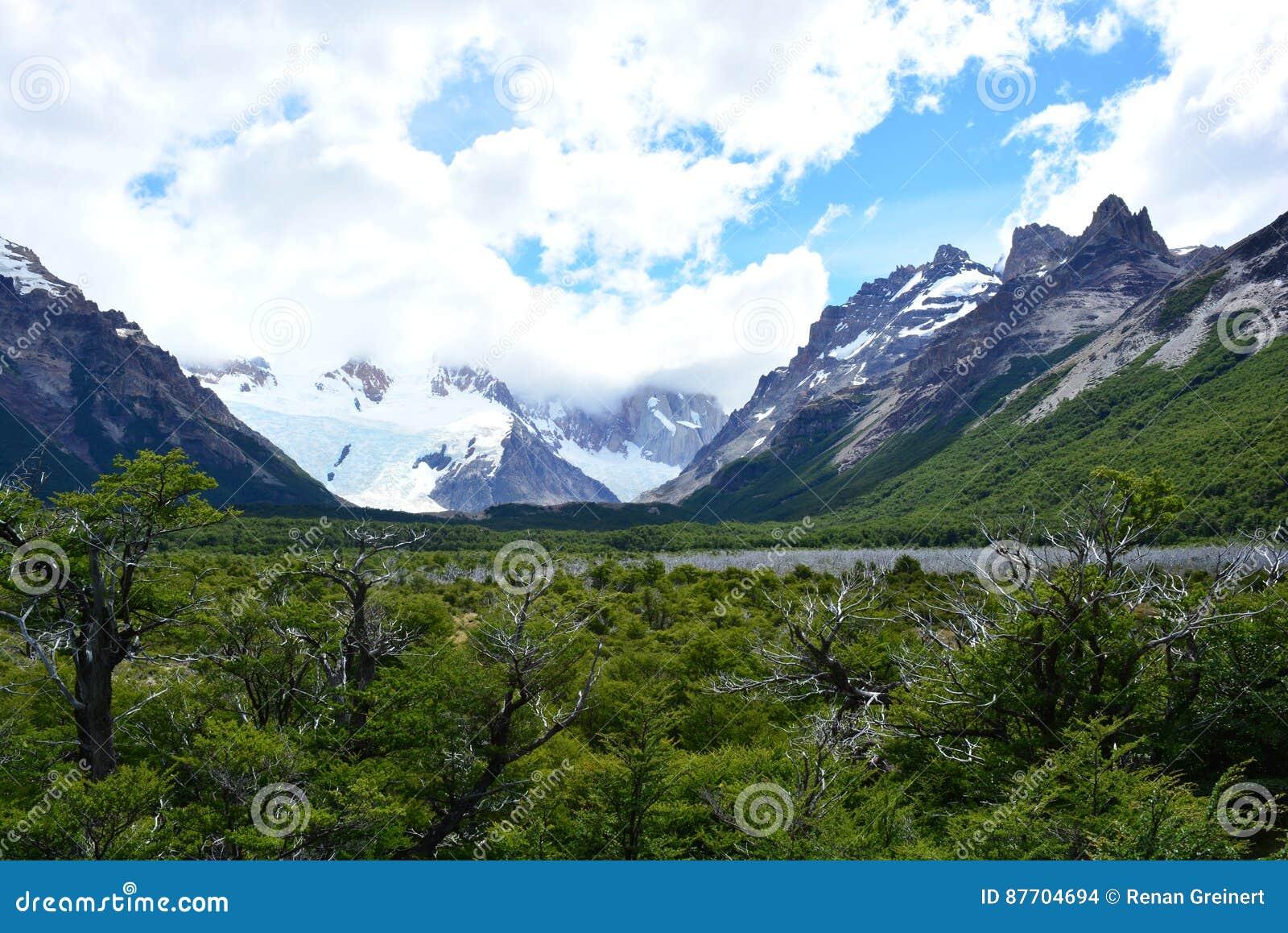 Paysage à l intérieur du parc national de visibilité directe Glaciares, EL Chaltén, Argentine