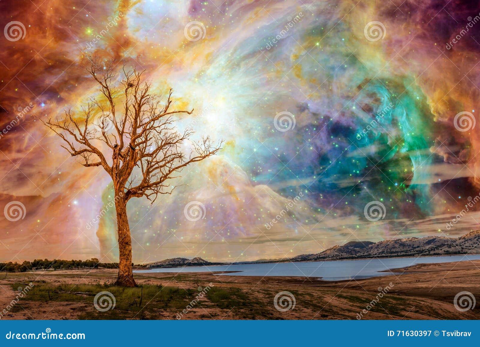 Paysage étranger de planète - art d imagination