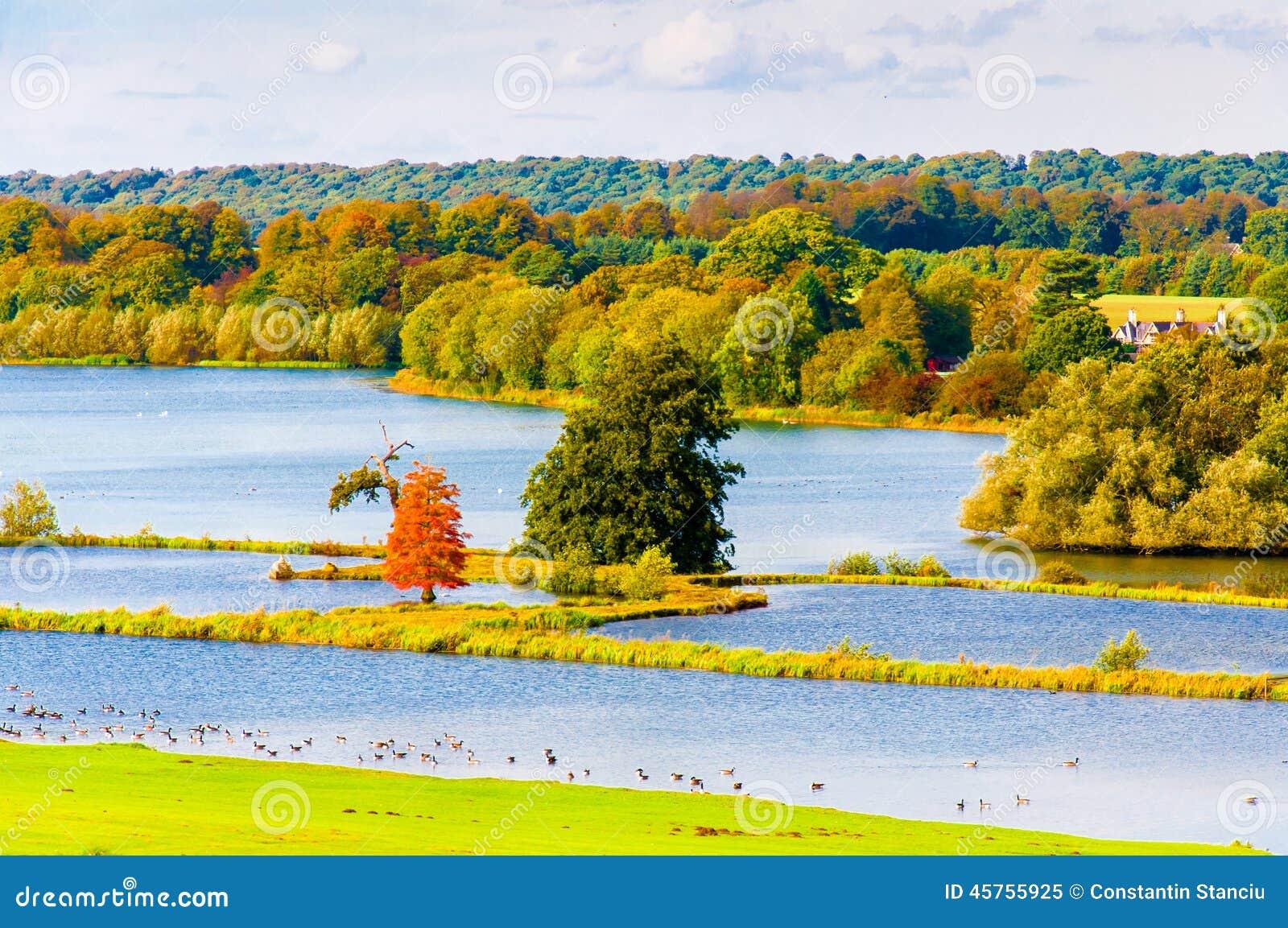 Paysage Anglais En Automne Photo Stock Image 45755925