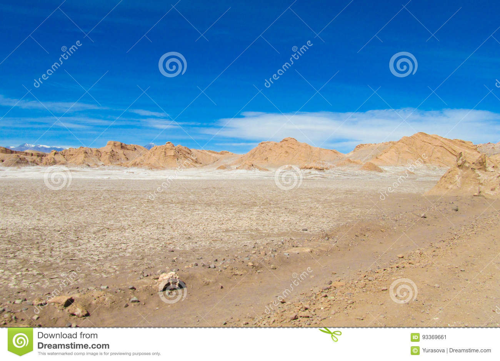 Paysage aride de désert d Atacama