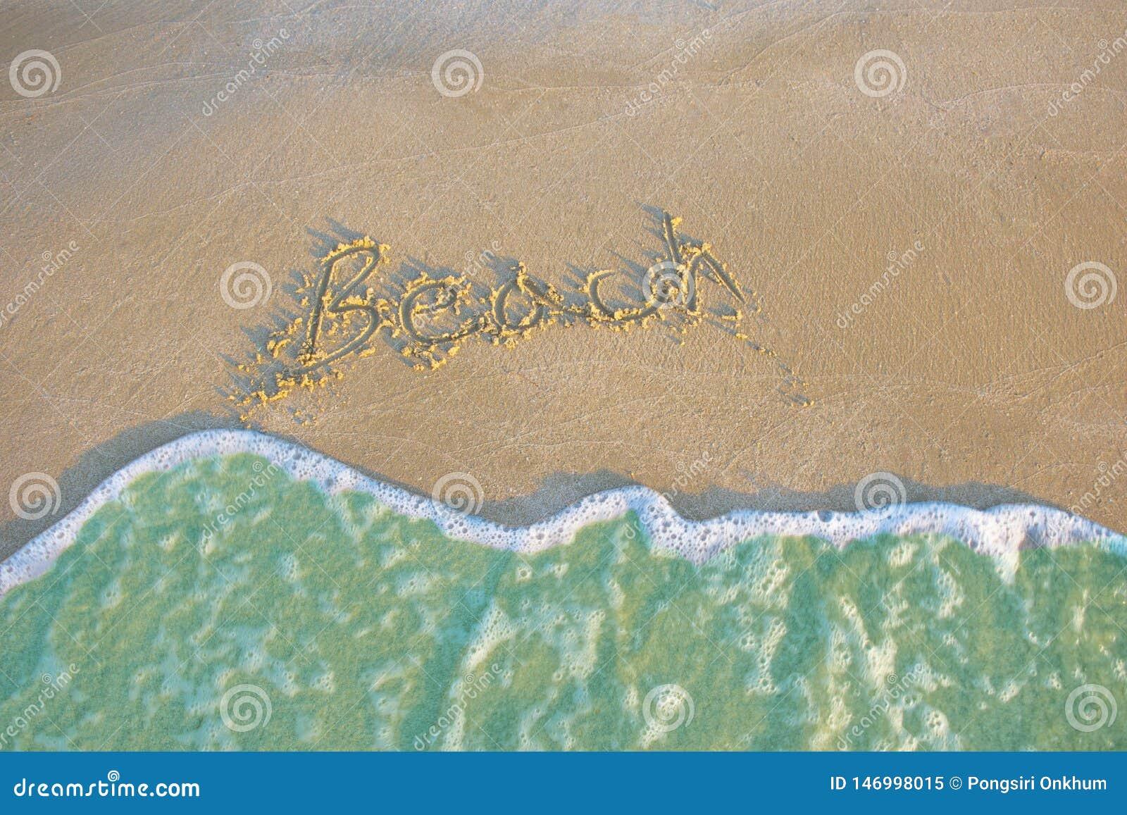 Paysage bleu de relaxation de lumière du jour du soleil de sable de plage de mer