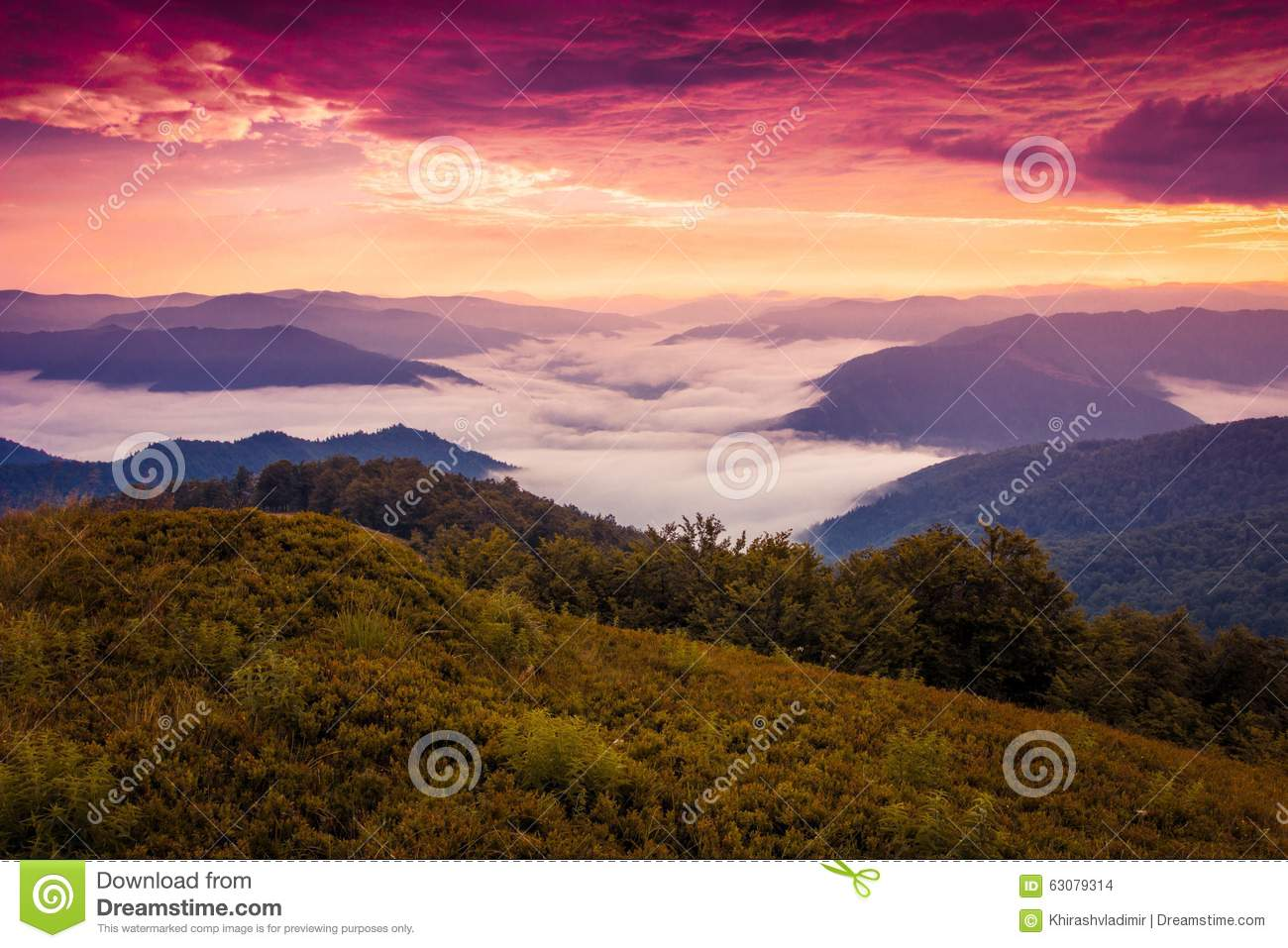 Download Paysage D'Autumn Carpathian Photo stock - Image du photo, europe: 63079314